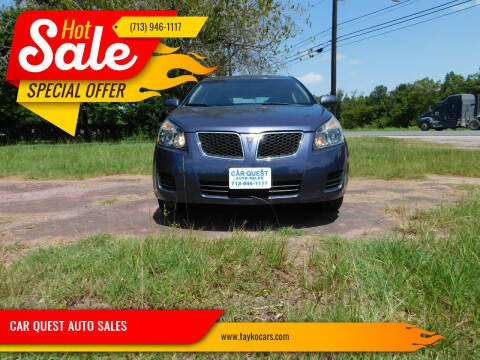 2010 Pontiac Vibe for sale at CAR QUEST AUTO SALES in Houston TX