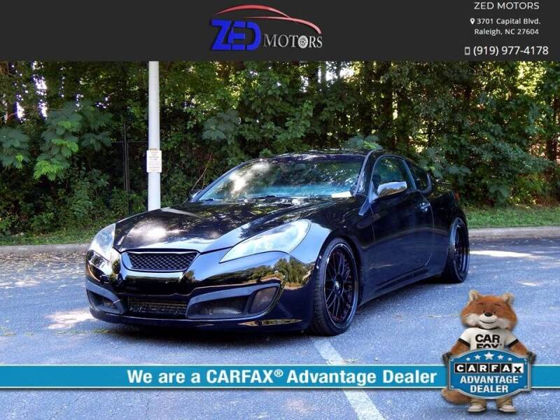 2010 Hyundai Genesis Coupe for sale at Zed Motors in Raleigh NC