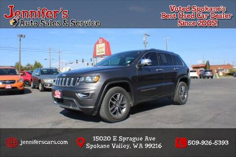 2017 Jeep Grand Cherokee for sale at Jennifer's Auto Sales in Spokane Valley WA