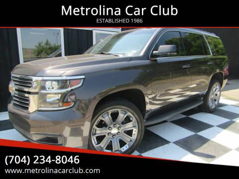 2015 Chevrolet Tahoe for sale at Metrolina Car Club in Matthews NC