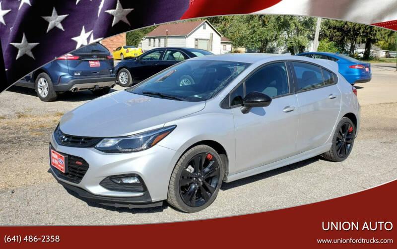 2018 Chevrolet Cruze for sale at Union Auto in Union IA
