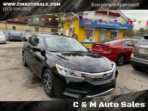 2017 Honda Accord for sale at C & M Auto Sales in Detroit MI