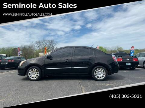 2012 Nissan Sentra for sale at Seminole Auto Sales in Seminole OK