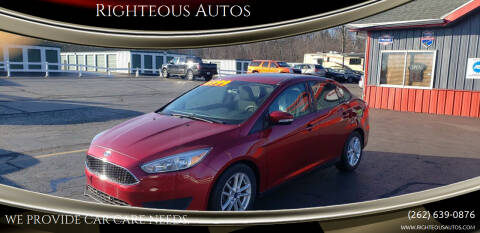 2016 Ford Focus for sale at Righteous Autos in Racine WI
