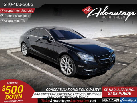 2014 Mercedes-Benz CLS for sale at ADVANTAGE AUTO SALES INC in Bell CA