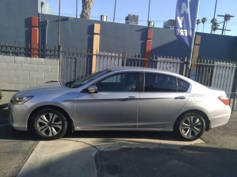2014 Honda Accord for sale at Western Motors Inc in Los Angeles CA