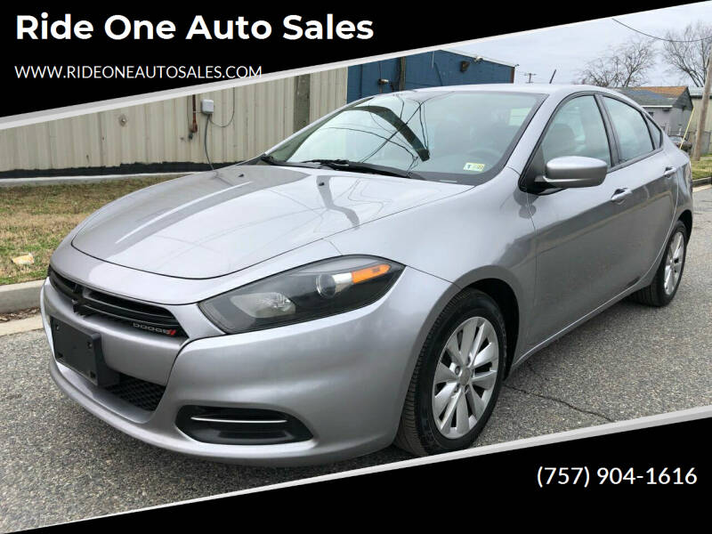 2014 Dodge Dart for sale at Ride One Auto Sales in Norfolk VA