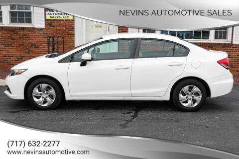 2015 Honda Civic for sale at Nevins Automotive Sales in Hanover PA
