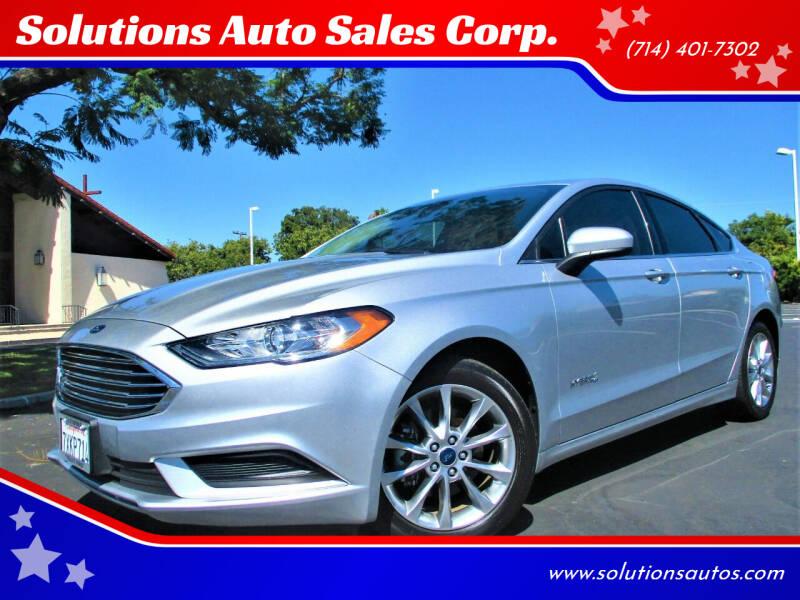 2017 Ford Fusion Hybrid for sale in Orange, CA