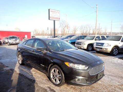2015 Ford Fusion Hybrid for sale at Marty's Auto Sales in Savage MN