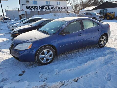 2007 Pontiac G6 for sale at GOOD NEWS AUTO SALES in Fargo ND