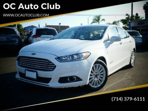 2013 Ford Fusion Energi for sale at OC Auto Club in Midway City CA