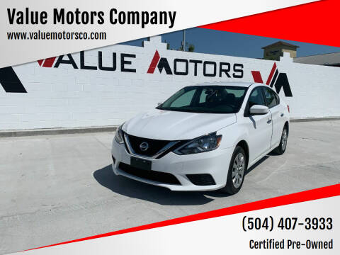 2016 Nissan Sentra for sale at Value Motors Company in Marrero LA
