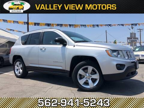2012 Jeep Compass for sale at Valley View Motors in Whittier CA