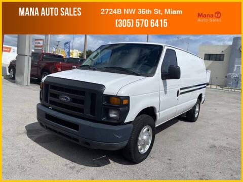 2012 Ford E-Series Cargo for sale at MANA AUTO SALES in Miami FL