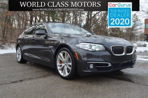 2016 BMW 5 Series for sale at World Class Motors LLC in Noblesville IN