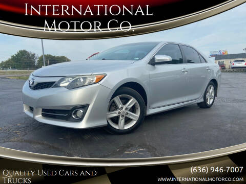 2012 Toyota Camry for sale at International Motor Co. in St. Charles MO