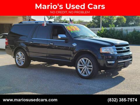 2015 Ford Expedition EL for sale at Mario's Used Cars - Pasadena Location in Pasadena TX