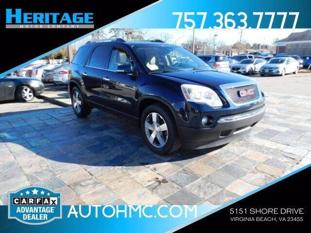 2012 GMC Acadia for sale at Heritage Motor Company in Virginia Beach VA