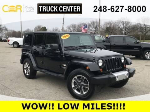 2010 Jeep Wrangler Unlimited for sale at Carite Truck Center in Ortonville MI