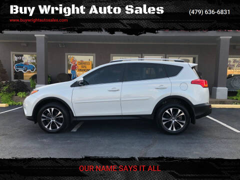 2015 Toyota RAV4 for sale at Buy Wright Auto Sales in Rogers AR