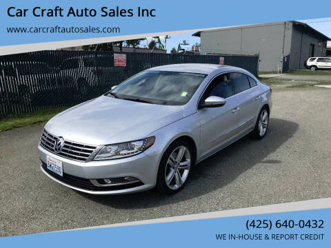 2013 Volkswagen CC for sale at Car Craft Auto Sales Inc in Lynnwood WA