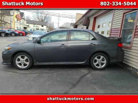 2012 Toyota Corolla for sale at Shattuck Motors in Newport VT