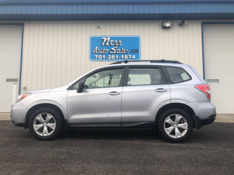 2015 Subaru Forester for sale at NESS AUTO SALES in West Fargo ND