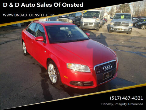 2008 Audi A4 for sale at D & D Auto Sales Of Onsted in Onsted   Brooklyn MI