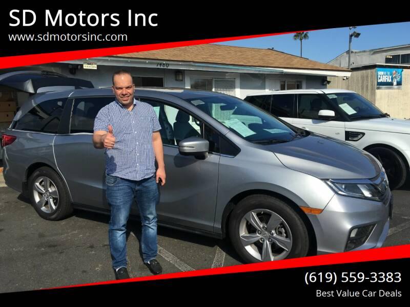 2018 Honda Odyssey for sale at SD Motors Inc in La Mesa CA
