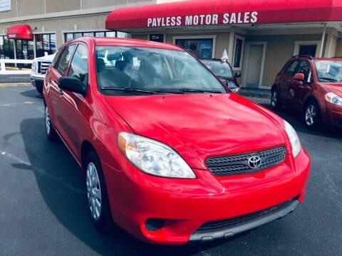 2006 Toyota Matrix for sale at Payless Motor Sales LLC in Burlington NC