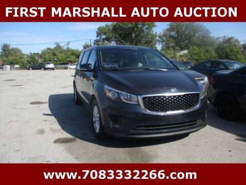 2015 Kia Sedona for sale at First Marshall Auto Auction in Harvey IL