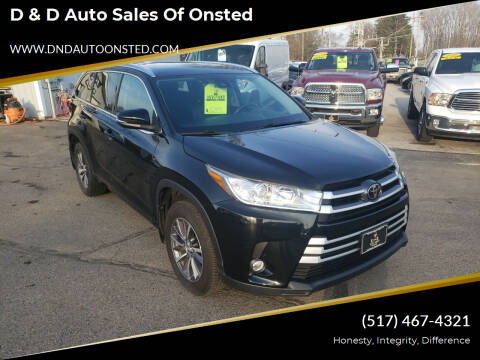 2017 Toyota Highlander for sale at D & D Auto Sales Of Onsted in Onsted MI