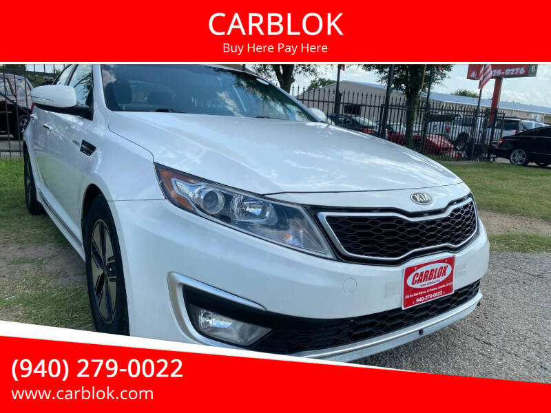 2013 Kia Optima Hybrid for sale at CARBLOK in Lewisville TX