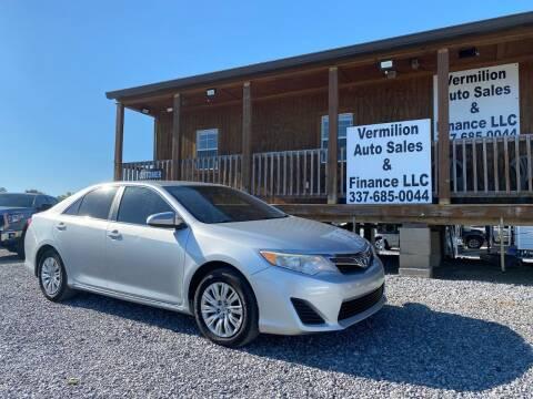 2012 Toyota Camry for sale at Vermilion Auto Sales & Finance in Erath LA