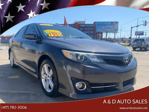2012 Toyota Camry for sale at A & D Auto Sales in Joplin MO
