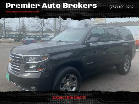 2016 Chevrolet Tahoe for sale at Premier Auto Brokers in Virginia Beach VA