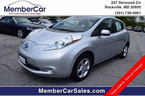 2013 Nissan LEAF for sale at MemberCar in Rockville MD
