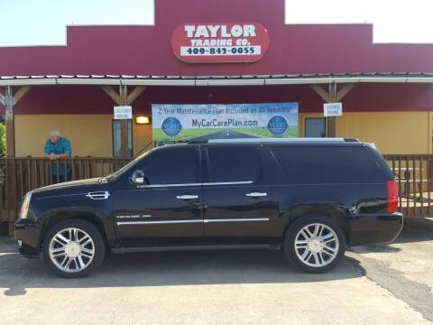 2012 Cadillac Escalade ESV for sale at Taylor Trading Co in Beaumont TX