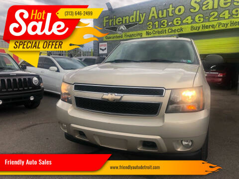 2008 Chevrolet Tahoe for sale at Friendly Auto Sales in Detroit MI