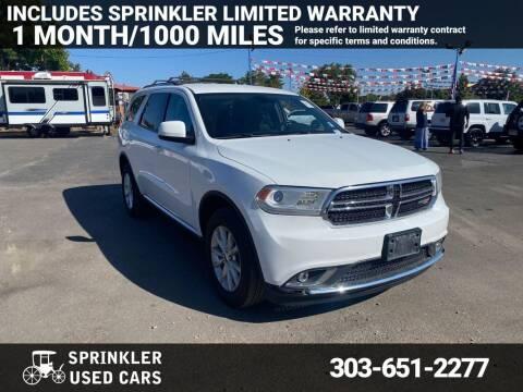 2015 Dodge Durango for sale at Sprinkler Used Cars in Longmont CO