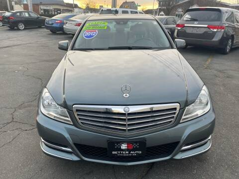 2012 Mercedes-Benz C-Class for sale at Better Auto in South Darthmouth MA