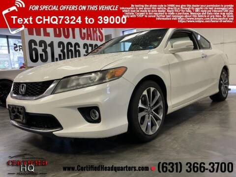 2013 Honda Accord for sale at CERTIFIED HEADQUARTERS in St James NY