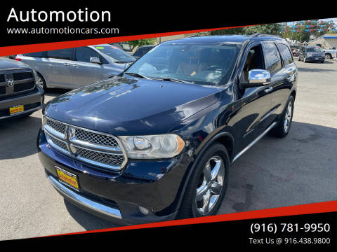 2011 Dodge Durango for sale at Automotion in Roseville CA