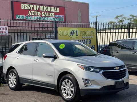 2018 Chevrolet Equinox for sale at Best of Michigan Auto Sales in Detroit MI