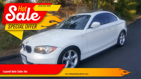 2011 BMW 1 Series for sale at Legend Auto Sales Inc in Lemon Grove CA