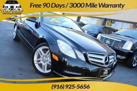 2013 Mercedes-Benz E-Class for sale at West Coast Auto Sales Center in Sacramento CA