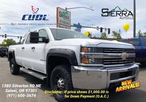 2015 Chevrolet Silverado 3500HD for sale at SIERRA AUTO LLC in Salem OR