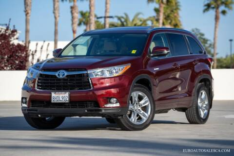 2015 Toyota Highlander Hybrid for sale at Euro Auto Sales in Santa Clara CA
