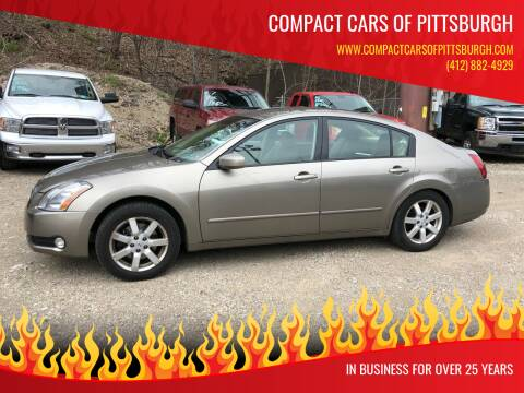 2005 Nissan Maxima for sale at Compact Cars of Pittsburgh in Pittsburgh PA